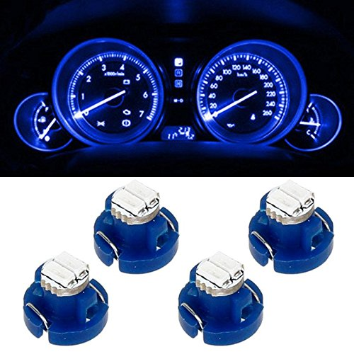 Partsam 4x Blue 1206 SMD T3 Neo Wedge SMD LED Cluster Hvac Climate Heater Controls Ac Lights Bulbs 8mm