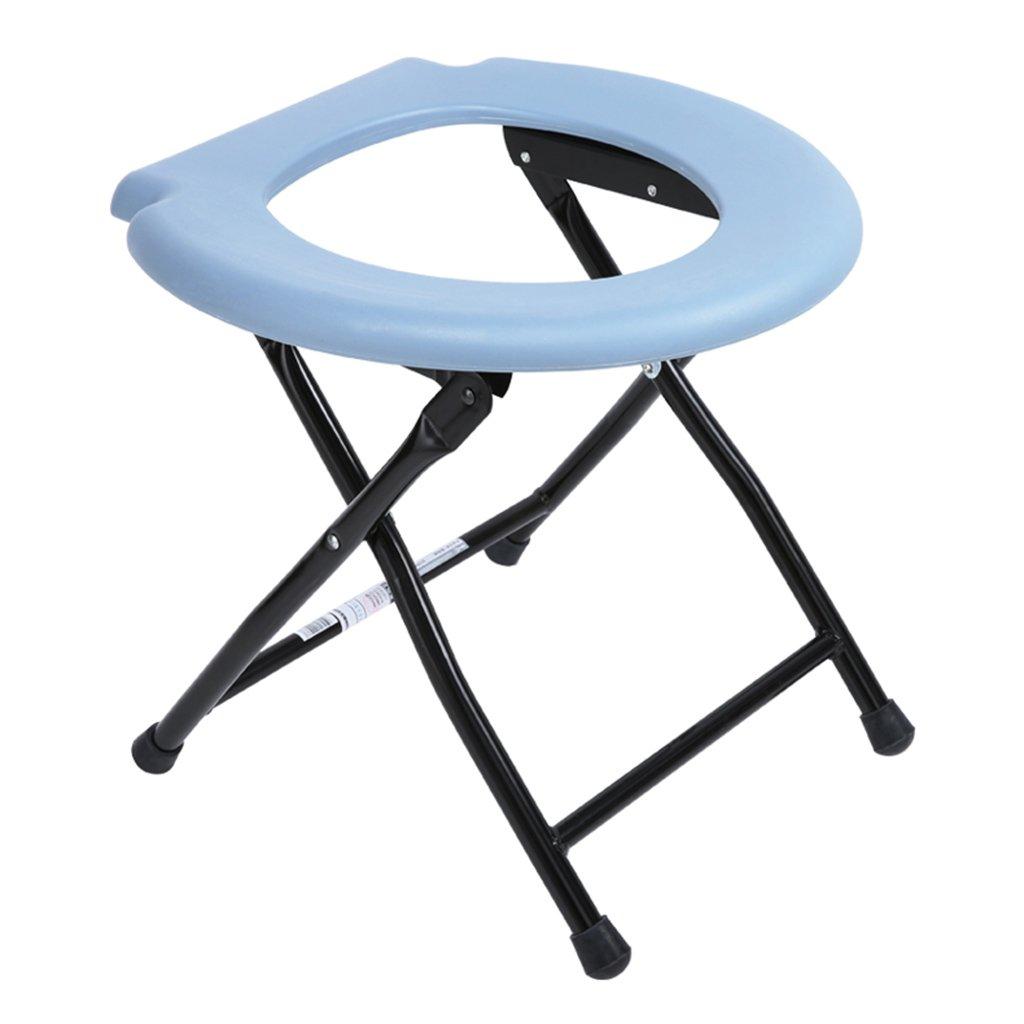 シュウクラブ@ 椅子の中に座っている高齢者の妊娠中の女性折りたたみトイレバスチェア障害者スクワット便座椅子 B07DVZF2WD