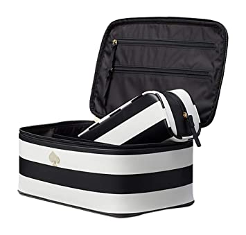 buy online 95938 3df0e Amazon.com : Kate Spade Cobblestone Park Stripe Large Colin Cosmetic ...