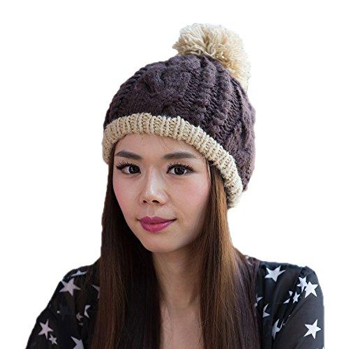 Sombrero de Moda Punto a Sombrero de señoras Las 4 Invierno Sombrero de Coreano 5 Bromista del Coreana Lana Maozi Punto A4qzwF