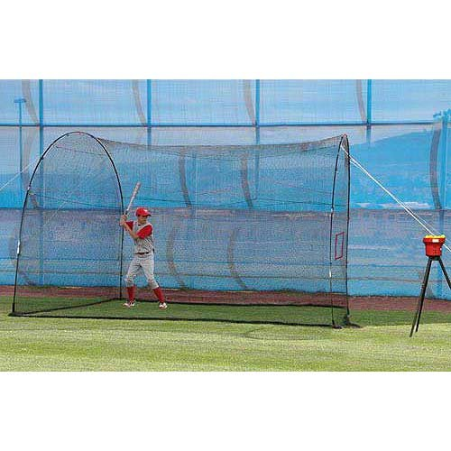 Heater Sports Crusher Mini Lite-ball Pitching Machine with Homerun Batting Cage - 12 X 12 X 10 by Heater Sports