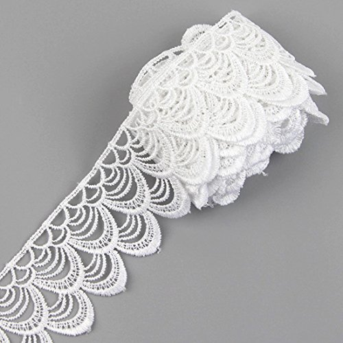 3 Yards Lace Trim Ribbon For Wedding Bridal Dress Embroidered DIY Sewing Craft