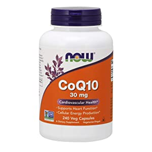 Now Supplements, CoQ10 30 mg, Pharmaceutical Grade, All-Trans Form Produced by Fermentation, 240 Veg Capsules