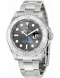 Yacht-Master 40 Dark Platinum Dial Steel Oyster Mens Watch 116622DPLSO