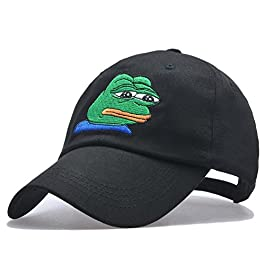 Himozoo Kermit The Frog Dad Hat Funny Sad Emoji Frog Embroidered Snapbacks Baseball Cap
