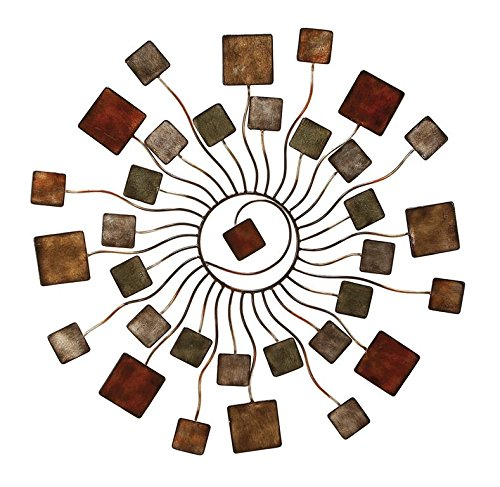 Deco 79 Modern Blossom Sun Abstract Metal Wall Art Home D Cor