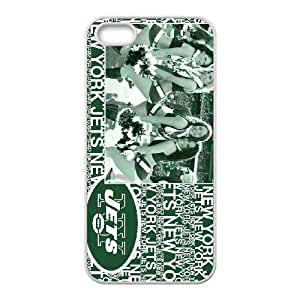 iPhone 5, 5S Phone Case NFL New York Jets Football Personalized Cover Cell Phone Cases GHW504165