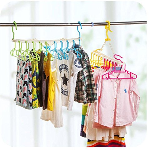 Foldable clothes hanger 10 in 1