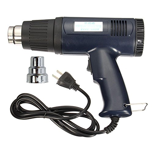 1500W 220V Heat Gun Shrink Wrapping Electric Hot Air Wrapping Thermal Heater Nozzle Heat Gun