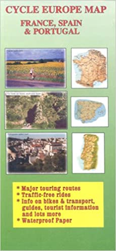 Map Of Spain And France And Portugal.Cycle Europe Map France Spain And Portugal Cycle Europe Maps