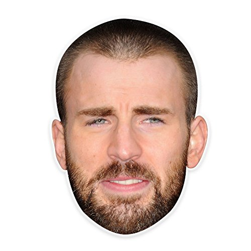 Disgusted Chris Evans Mask, Perfect for Halloween, Masquerades, Parties, Festivals, Concerts - Jumbo Size Waterproof -