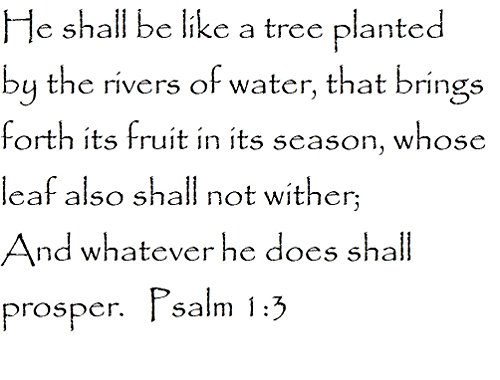 Tapestry Of Truth - Psalm 1:3 - TOT6365 - Wall and home scripture, lettering, quotes, images, stickers, decals, art, and more! - He shall be like a tree planted by the rivers of water, that brings... (A Tree Planted By Rivers Of Water)