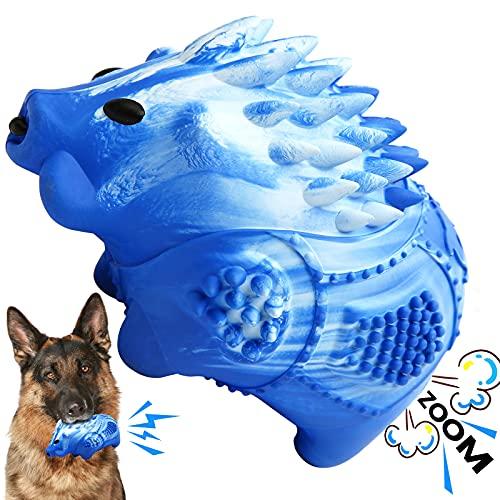 PUHOHUN Quietschendes Hundekauspielzeug,Robustes Quietschende Gummi Kauspielzeug für Aggressive Kauer,Unzerstörbares…