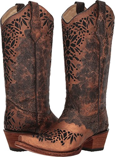 Corral Boots Women's L5368 Shedron Black 5 B US B (M)