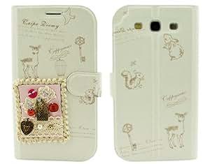 BONAMART® TM Juramento Libro Folio Carcasa Caso Funda PU Cuero Case Cover Para Samsung Galaxy S 3 III S3 SIII I9300