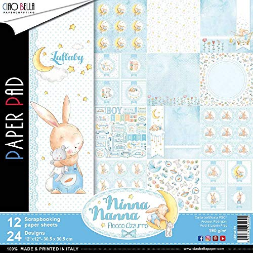 Ciao Bella CBPM019 Nanna Boy Double-Sided Paper Pack 12