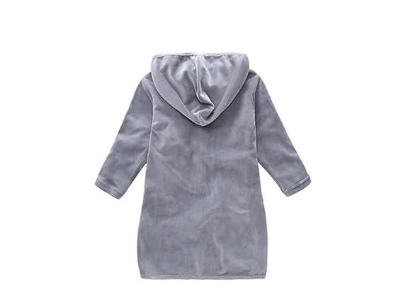Saco de dormir para niños El saco de dormir abotonado felpa del bebé recién nacido del bebé Anti-golpea el camisón con capucha para 0-24 meses Saco de ...