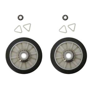 Set of 2 New Dryer Drum Roller Kit 349241T 349241 For Whirlpool, Kenmore, Roper