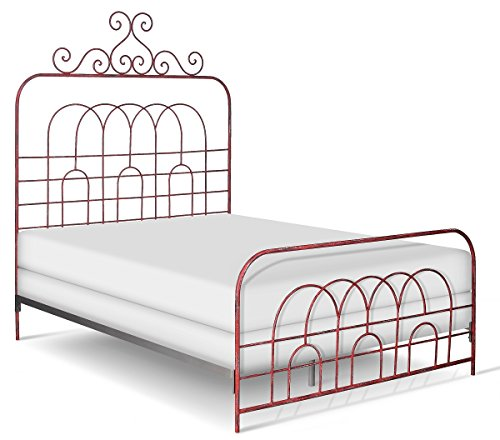 Corsican Iron Bed (Corsican Garden Gate Vintage Red Iron Queen-size Bed)