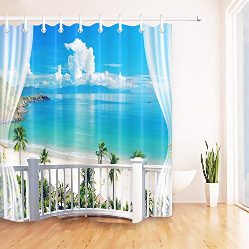 Buy tropical shower curtain set