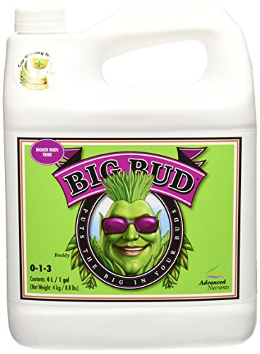 - Advanced Nutrients GL525050-15 Big Bud Liquid Fertilizer, 4 Liter, Brown/A