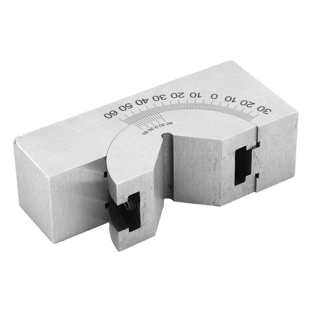 Procusize Protractor for Planes for Milling Machines Stainless Steel Adjustable Angle Block Milling Machine Angle Block