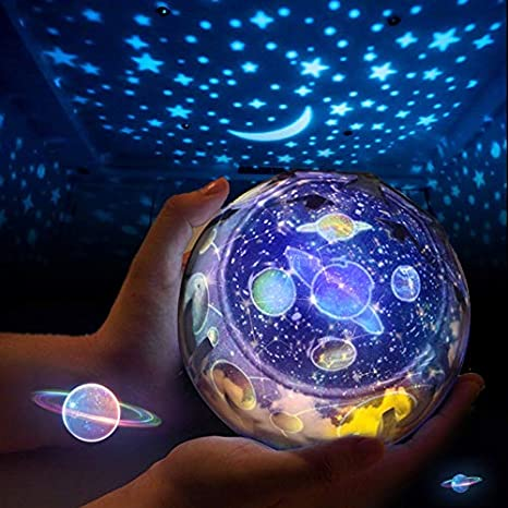 Creativo cielo estrellado Magic Light Estrellas Luna Planeta ...