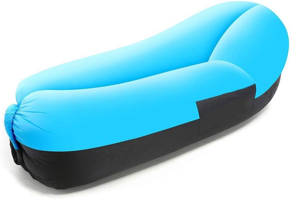 DFQX Sofá hinchable inflable Aire portátil A prueba de agua Anti-aire con fugas Bolsa inflable Bolsa con almohada y bolsa de transporte para acampar al aire libre, picnics, piscina, viajes, senderismo: Amazon.es: