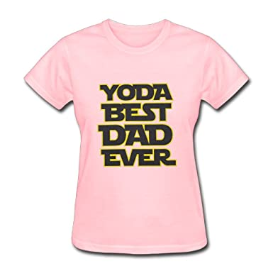 7e9517f7b LucyEve Womens Casual Soft Crew Neck Yoda Best Dad Ever T Shirts at Amazon  Women's Clothing store: