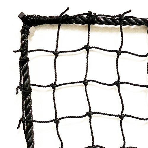 Just For Nets JFN Nylon Lacrosse Practice/Barrier Net, 10' x 10', Black