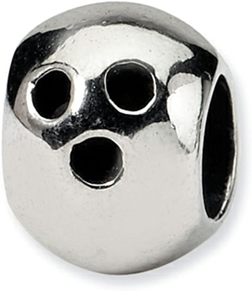 Reflections Sterling Silver Bowling Ball Bead//Charm