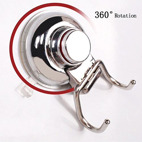 well-wreapped LWestine Stainless Steel Vacuum Suction Cup Hook Holder
