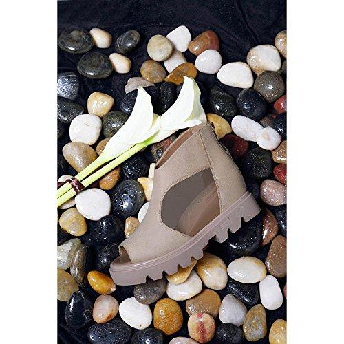 Sandali Scarpe Creativo JZTC Rete Mesh a khaki Scarpe Materiale KJJDE Donna Vuoto Traspirante in Estivi Superficiale Testa Casual 6231 7vrq07A