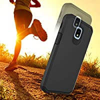 Alcatel TCL LX A502DL Case, Alcatel IdealXTRA 5059R, 1X Evolve (2018)  Phonelicious Hybrid Dual Layer Tough Phone Cover (Black)