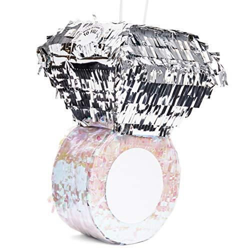 (Juvale Small Diamond Ring Pinata, Bridal, Engagement, Bachelorette Party Supplies, 7 x 7 x 11)