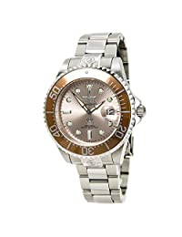 Grand Diver Stainless Steel Case and Bracelet Rose Gold Tone DIal