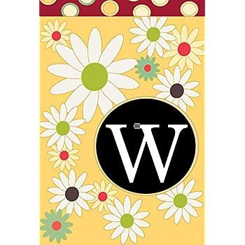 Toland Home Garden Floral Monogram W 12.5 X 18 Inch Decorative USA Produced Garden  Flag