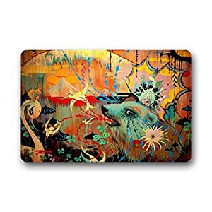 DDLY Into the Woods Camille Rose Garcia Discusses Black Mirror Personalized Doormats 18 x 30inch Non-woven Non Sip Fabric Door Mats Entrance Mats