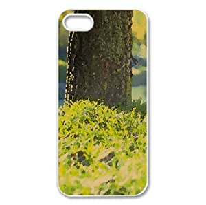 Grass Watercolor style Cover iPhone 5 and 5S Case (Landscape Watercolor style Cover iPhone 5 and 5S Case)
