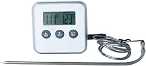 Digital Meat Thermometer - BBQ Meat Thermometer - Meat Thermometer for Grilling - Professional Instant Read - Thermometer timer dual use