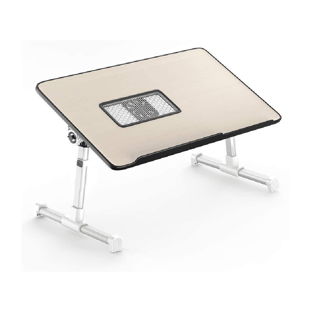 Small Desks Folding Table Bed Table, Computer, Foldable, Portable, Reading, Drawing, Writing, Panel Angle Adjustable, Height Adjustable,Bearing 40Kg Rollsnownow (Size   S)