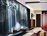 3D Lake Waterfall Landscape 415 Wall Paper Wall Print Decal Wall Deco Indoor wall Murals Removable Wall Mural | Self-adhesive Large Wallpaper , AJ WALLPAPER Carly (205''x114.2''(WxH))