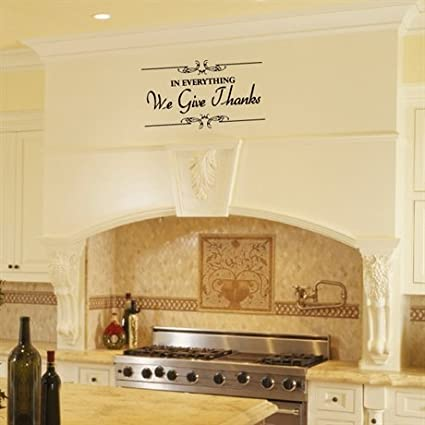 Amazon Com Kitchen Quote Removal Vinyl Wall Decal In Everything