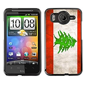 Shell-Star ( National Flag Series-Lebanon ) Snap On Hard Protective Case For HTC Desire HD / Inspire 4G