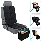 Car Seat Protector with Trash Can – Waterproof Car Seat Pad and Collapsible Trash Bin – Adjustable Auto Seat Protector Under Car Seat Designed to Fit All Vehicles + Bonus Trash Liners by BabySeater
