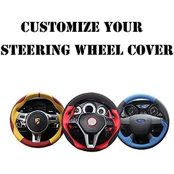 Amazon Com Ji Loncky Genuine Leather Auto Custom Steering Wheel