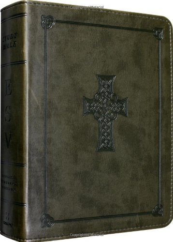 ESV Study Bible, Personal Size (TruTone, Olive, Celtic Cross Design) by ESV Bibles by Crossway Pap/Psc Edition [ImitationLeather(2011)] (Cross Celtic Esv Bible)