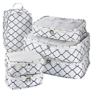 Travel Packing Cubes – 6 Piece Set Luggage Packing Organizers and Compression Packing Cube System for Travel with Shoe…