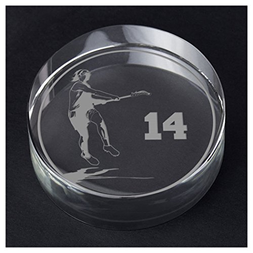 ChalkTalkSPORTS Girls Lacrosse Personalized Crystal Award Gift | Player Silhouette Custom Number by ChalkTalkSPORTS