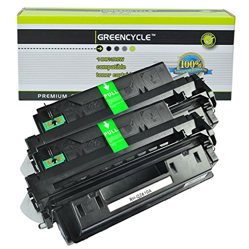 GREENCYCLE Toner Cartridge Replacement For HP Q2610A 10A High Yield 6,000 Pages Compatible For HP LaserJet 2300 2300d 2300dn 2300dtn 2300L 2300n (2 Black) 2300 Series 6000 Page Yield